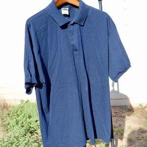 Navy Blue Collar Button Dress Shirt